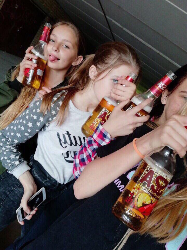 школота девки малолетки бухие пиво