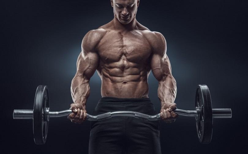 штанга мускулы мужчина